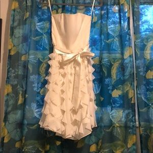 Cream dress- perfect for a rehearsal dinner!